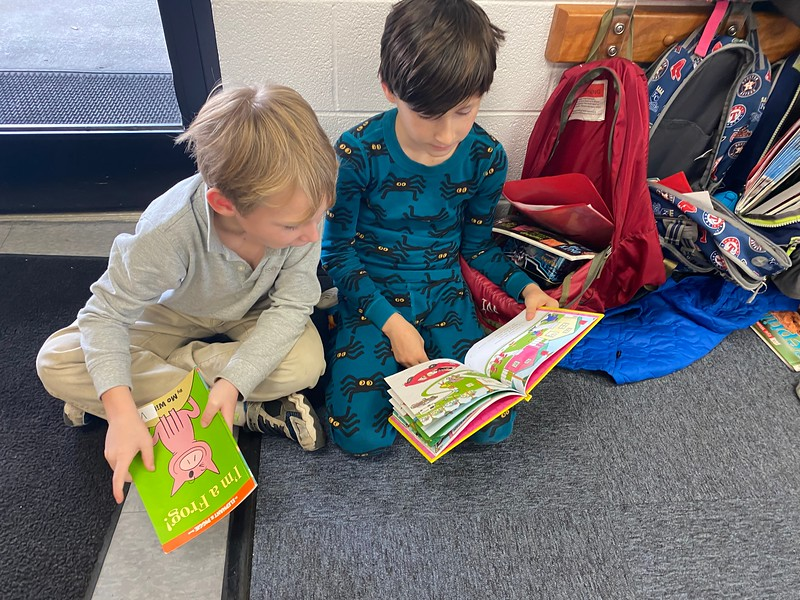 Reading Across America - reading with our 1st Grade buddies