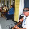 "Pedro ""Guitarman"" Diaz had a few listeners throughout the evening."