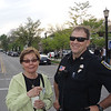 Barb Brady and Policeman ( new support location this year for Sidewalkers.)