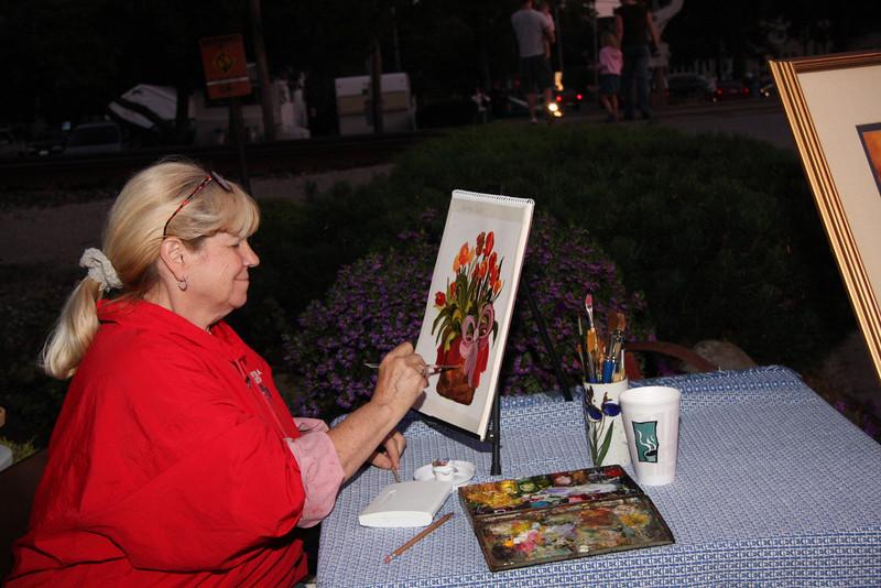 Diane Reinhart Sliter at work.