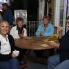 Marjorie Fada, visiting from Orlando is eating ice cream with Nancy Haydin, Marilla Nedro and Barb Gerken.