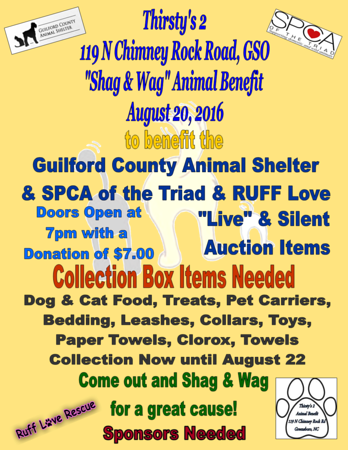 2016 Shag & Wag Animal Benefit