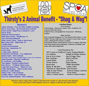 2013 Thirsty's 2 Animal Benefit