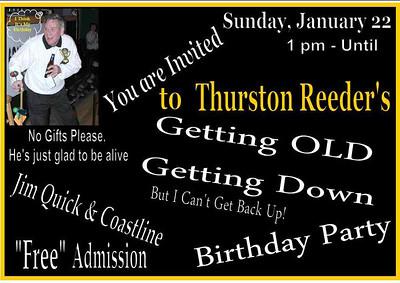 Thurston Reeders 65th Birthday Party