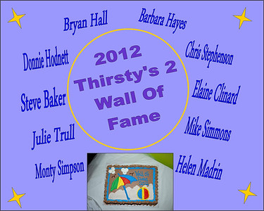 2012 Thirsty's 2 Wall of Fame Induction