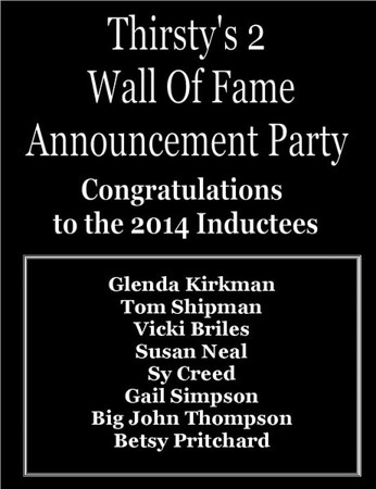 2014 THIRSTY'S 2 WALL OF FAME ANNOUNCEMENT PARTY