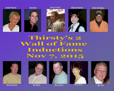 2015 Thirsty's 2 Wall Of Fame Inductions