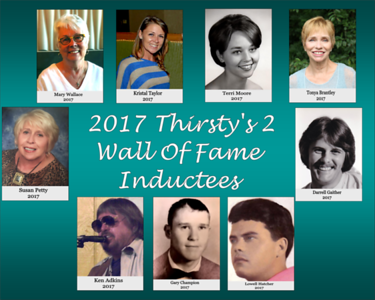 2017 THIRSTY'S 2 WALL OF FAME INDUCTION