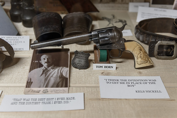 Tom Horn's Colt 45 at Gunfighters Hall of Fame, Tombstone AZ (17 January 2015)