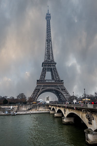 The Eiffel Tower from across the Seine