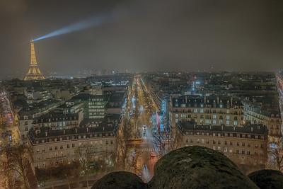 Paris and Eiffel Tower from the Arc de Triomphe