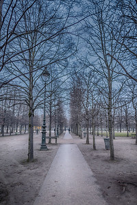 Walking park in Paris