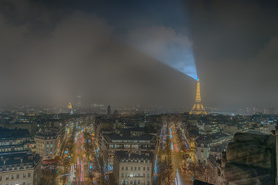 Paris and the Eiffel Tower from the Arc de Triomphe