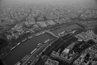 Paris and the Seine from the Eiffel Tower