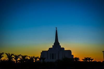 Gilbert Temple Blue Hour Sunset