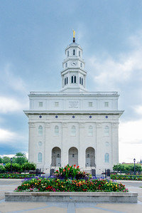 Nauvoo Illinois Temple with Flower Planter