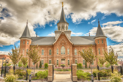 Provo City Center Temple through the Gate