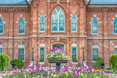 Provo City Center Temple Windows and Flowers