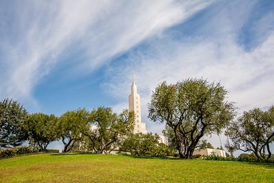 Los Angeles Temple Sky Grandeur