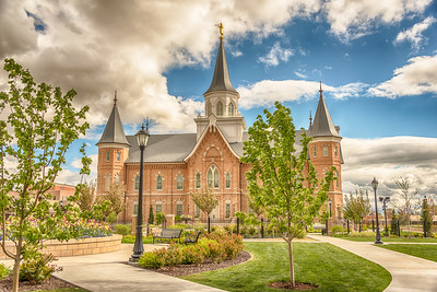Provo City Center Temple Walkway and Benches