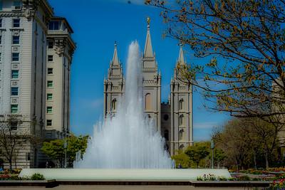 Salt Lake City Temple Fountain