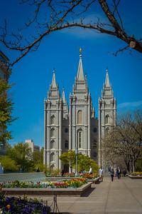 Salt Lake City Temple Spring