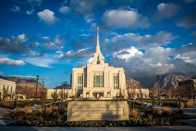Ogden Temple Basic Mountain View