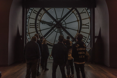 The Musee d' Orsay clock from the inside