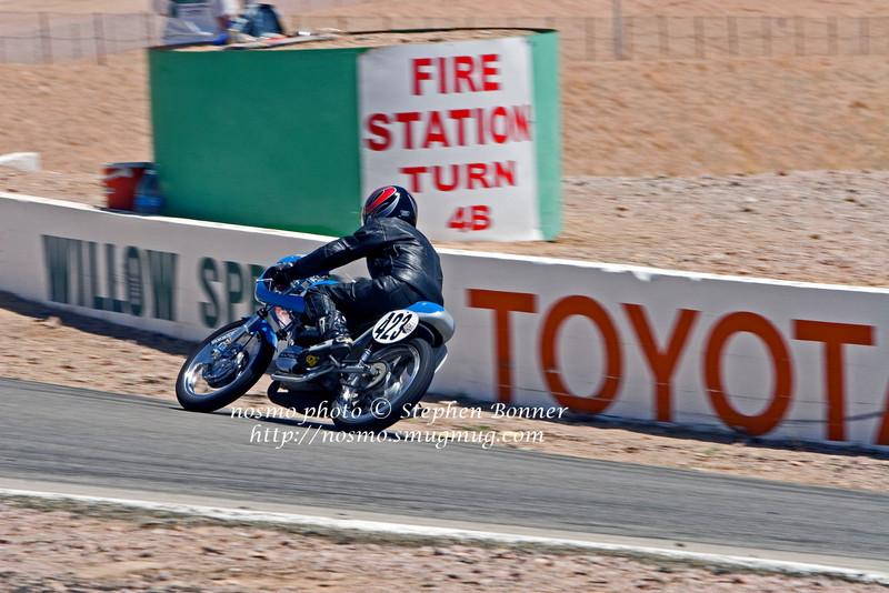 423 Blue Bultaco leaving turn 4B