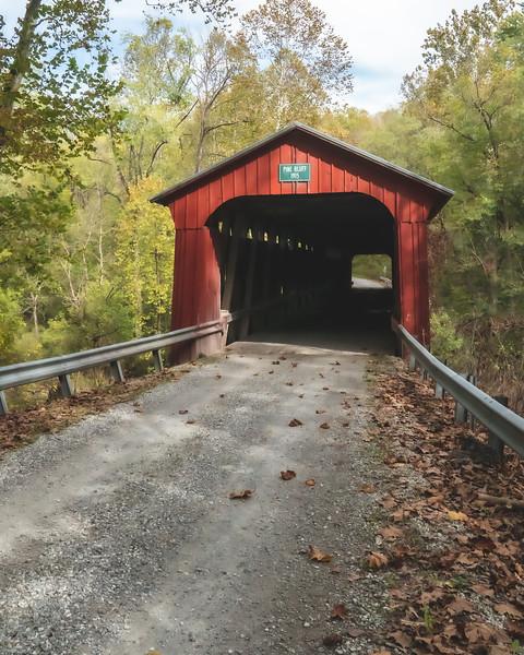 Pine Bluff Covered Bridge in Putnam County Indiana