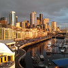 afternoon sun from Bell St Pier