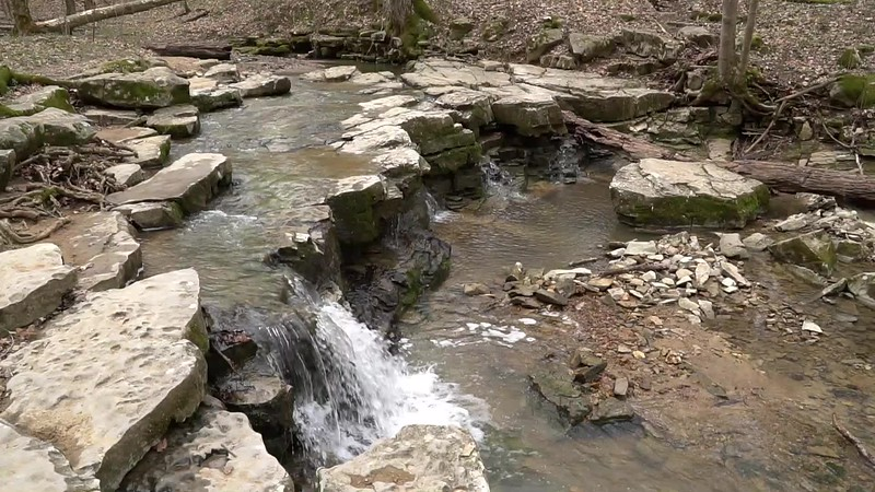 McCormick's Creek State Park waterfall in Spencer Indiana