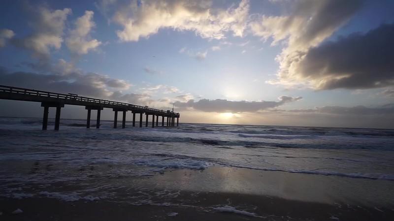 A windy sunrise on St. Augustine Beach, Anastasia Island in Florida!