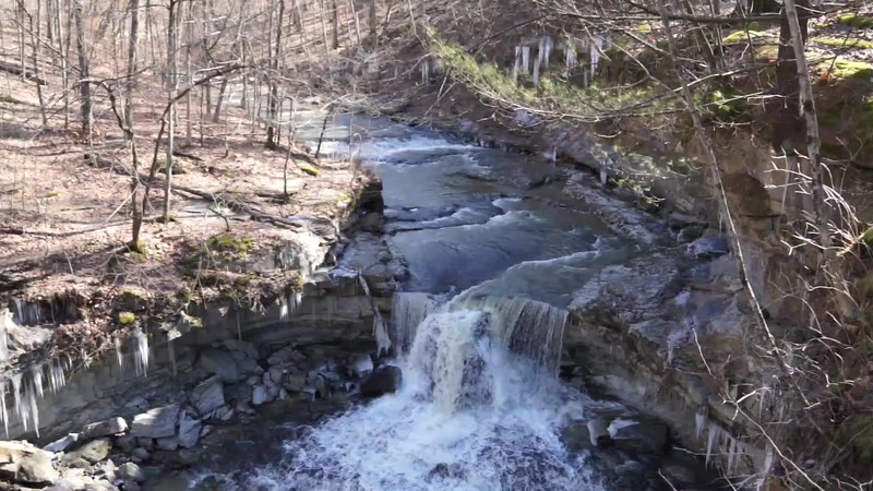 Waterfall at McCormick's Creek State Park in Spencer Indiana