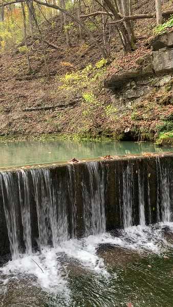 Waterfall at Spring Mill State Park