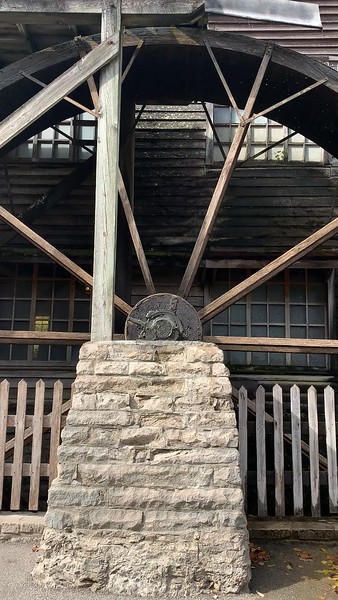 The Mill wheel spinning at Spring Mill State Park