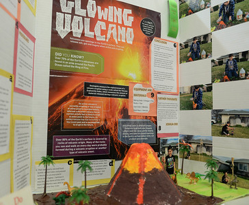A science fair project on volcanoes inside the Chico Masonic Family Center on Wednesday, February 27. (Matt Bates -- Enterprise record)