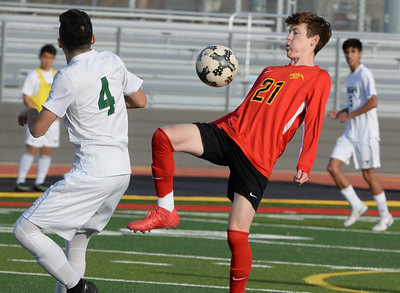 Chico's Rory Monninger controls the ball during the Panthers playoff game against Leigh on Thursday, February 28 in Chico.  (Matt Bates -- Enterprise-Record)