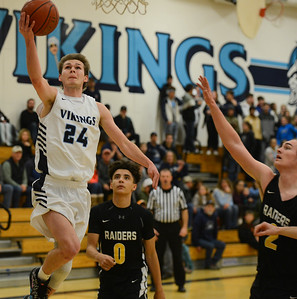 PV's Cody Hamilton drives to the hoop for a layup during the Vikings playoff game against Rio Americano on Tuesday, February 26 in Chico.  (Matt Bates -- Enterprise-Record)