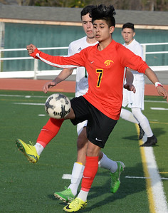 Chico's Jovanni Casillas-Escajeda controls the ball during the Panthers playoff game against Leigh on Thursday, February 28 in Chico.  (Matt Bates -- Enterprise-Record)
