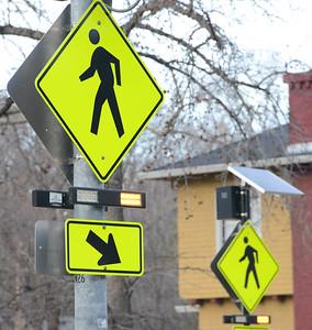 Crosswalk lights at the interesection of Esplenade and West Sacramento on Thursday, February 28. (Matt Bates -- Enterprise Record)