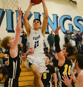 PV's Aaron Gomez drives to the hoop during the Vikings playoff game against Rio Americano on Tuesday, February 26 in Chico. (Matt Bates -- Enterprise-Record)