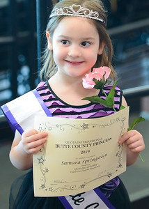 Samara Springsteen shows off her offical certificate during Princess Day at Butte College on Saturday, March 16. (Matt Bates -- Enterprise-Record)