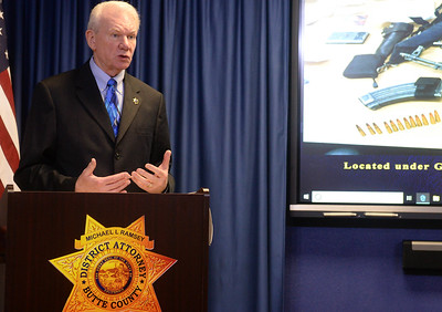 Butte County District Attorney Michael Ramsey speaks during a press conference in Oroville on Wednesday, March 20. (Matt Bates -- Enterprise-Record)