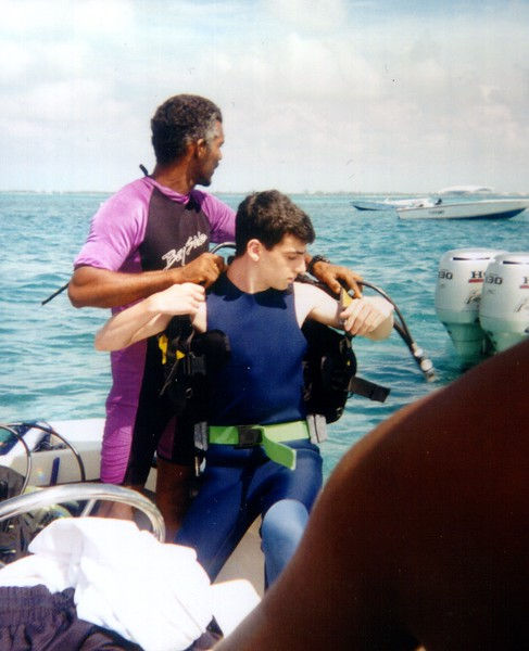Lonny Getting Ready For a Dive