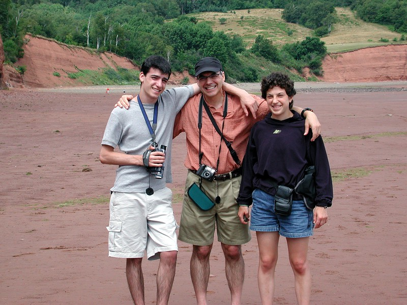 Lonny, Dad and Jessie at Bay of Fundy