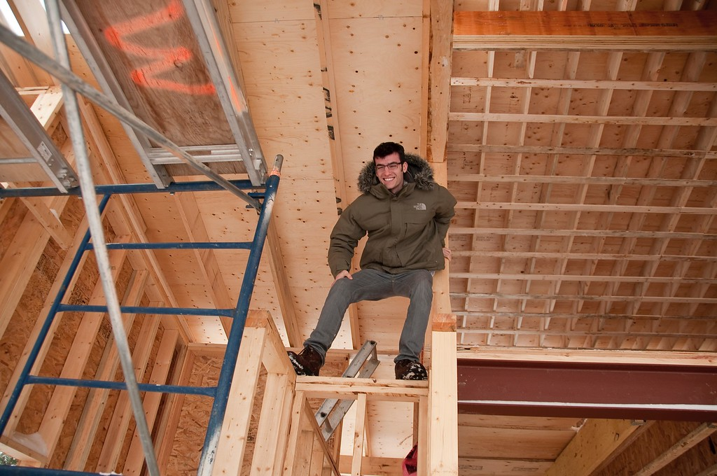 Lonny Inspecting Constance Bay House Construction