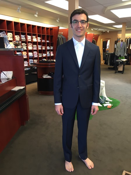 Lonny Tries on Wedding Suit