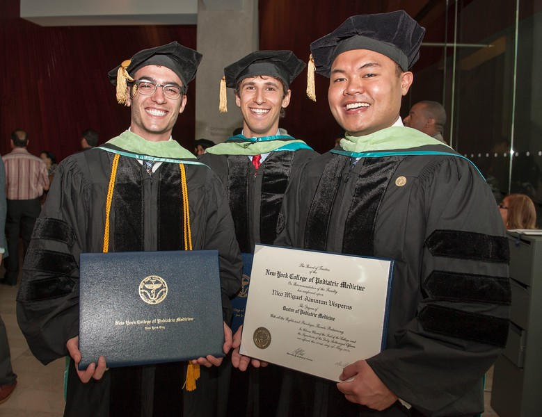 Lonny, Tyler and Rico Graduating From Podiatry Medical School