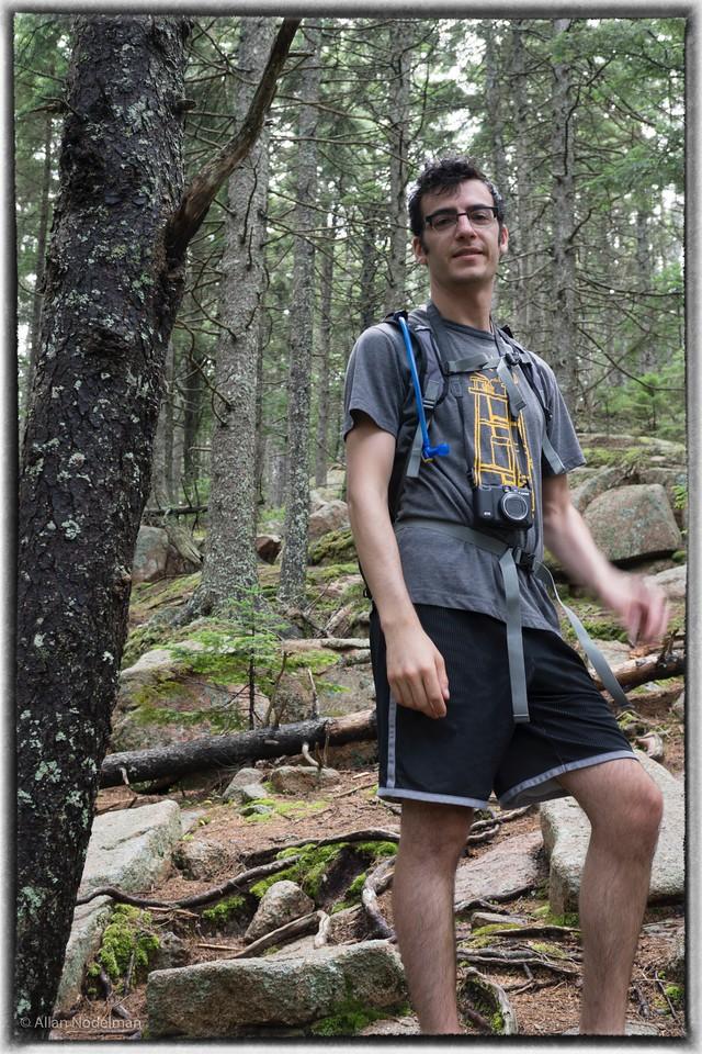Lonny Hiking in Acadia